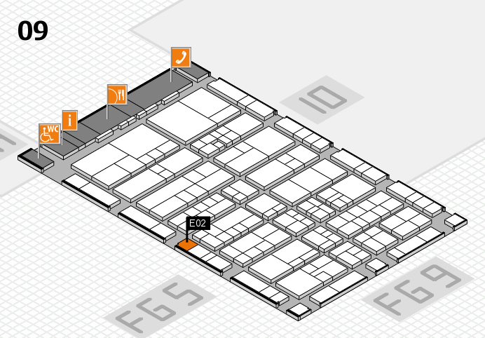 interpack 2017 hall map (Hall 9): stand E02