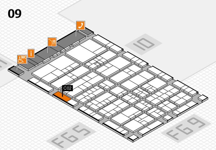 interpack 2017 Hallenplan (Halle 9): Stand C02