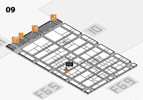 interpack 2017 Hallenplan (Halle 9): Stand F03