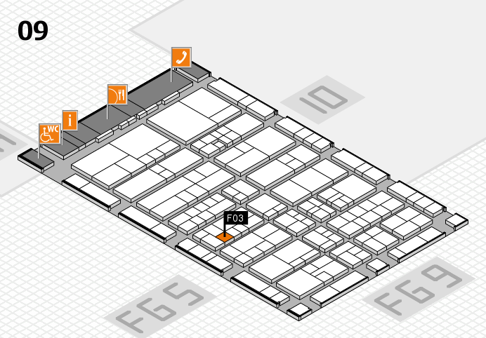 interpack 2017 hall map (Hall 9): stand F03