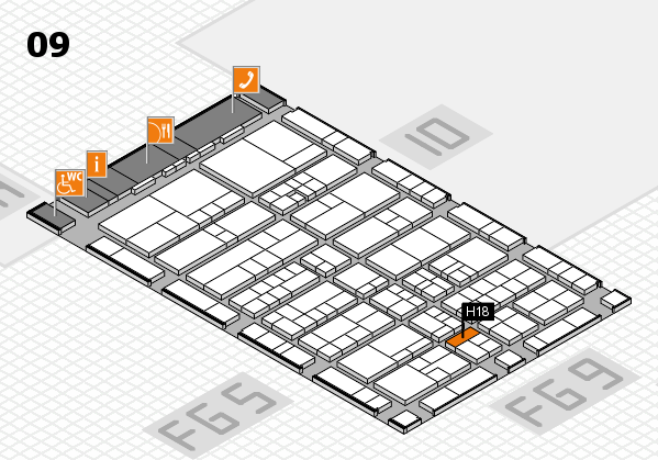 interpack 2017 hall map (Hall 9): stand H18
