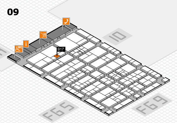 interpack 2017 hall map (Hall 9): stand B17
