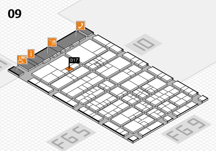 interpack 2017 Hallenplan (Halle 9): Stand B17