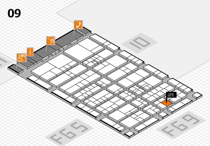 interpack 2017 Hallenplan (Halle 9): Stand J25