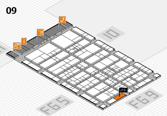 interpack 2017 Hallenplan (Halle 9): Stand J13