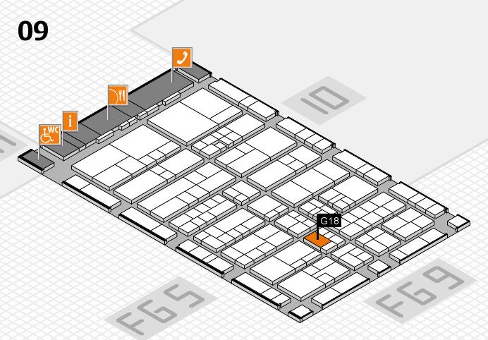 interpack 2017 Hallenplan (Halle 9): Stand G18