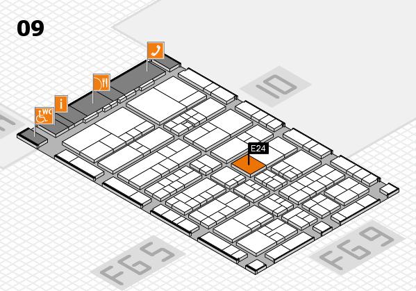interpack 2017 Hallenplan (Halle 9): Stand E24