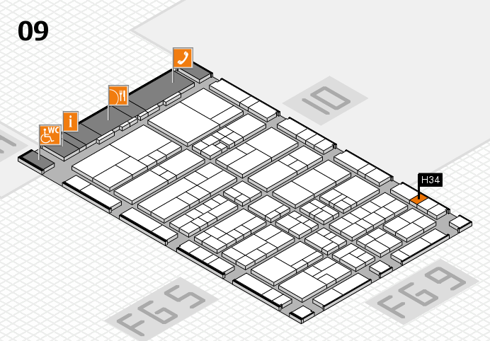 interpack 2017 hall map (Hall 9): stand H34