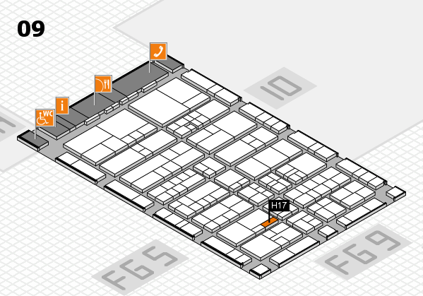 interpack 2017 hall map (Hall 9): stand H17