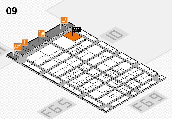 interpack 2017 Hallenplan (Halle 9): Stand A32