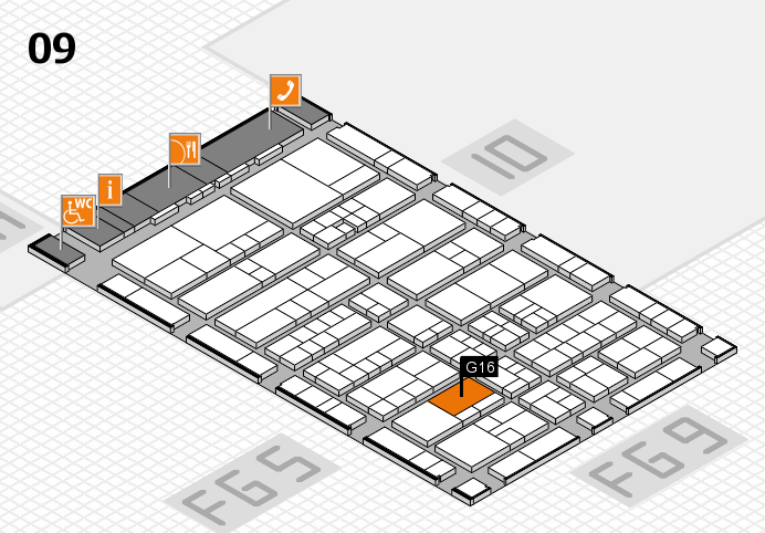 interpack 2017 Hallenplan (Halle 9): Stand G16