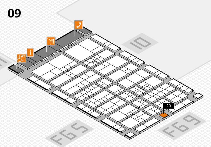 interpack 2017 Hallenplan (Halle 9): Stand J20