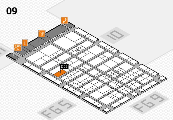 interpack 2017 Hallenplan (Halle 9): Stand D03