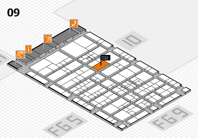 interpack 2017 Hallenplan (Halle 9): Stand D22