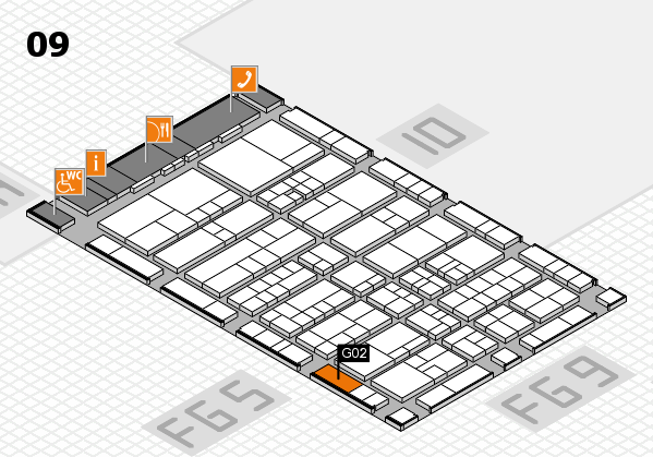 interpack 2017 hall map (Hall 9): stand G02