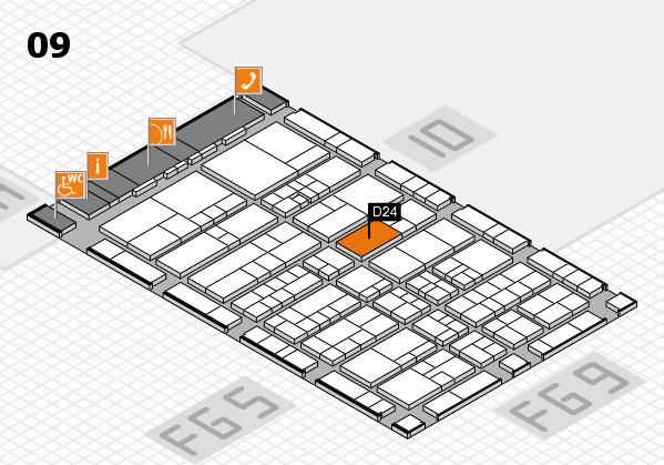 interpack 2017 Hallenplan (Halle 9): Stand D24