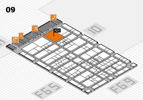 interpack 2017 hall map (Hall 9): stand A24.B23