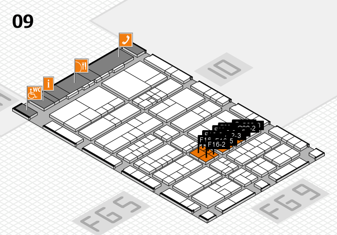 interpack 2017 hall map (Hall 9): stand F16-1, stand G28-3