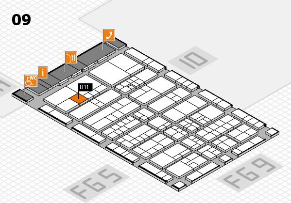 interpack 2017 Hallenplan (Halle 9): Stand B11
