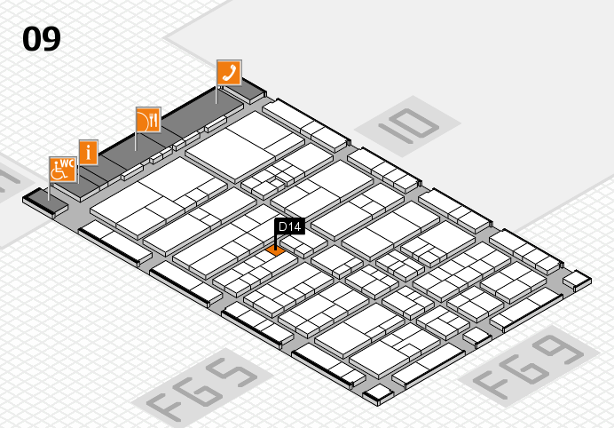 interpack 2017 hall map (Hall 9): stand D14