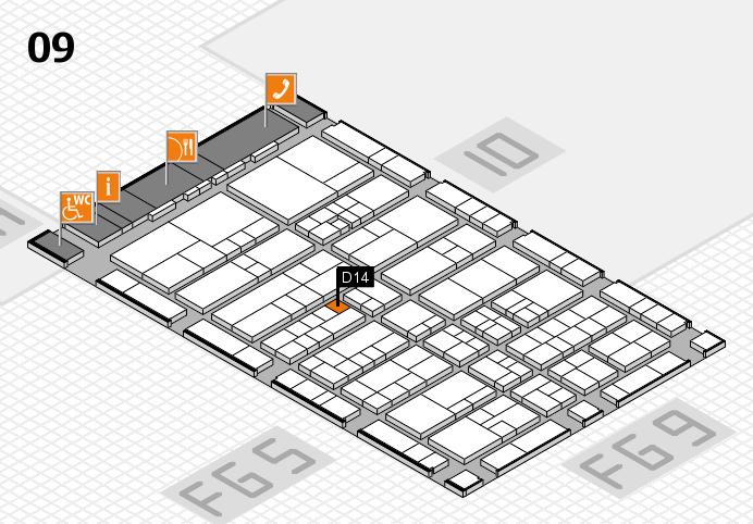 interpack 2017 Hallenplan (Halle 9): Stand D14