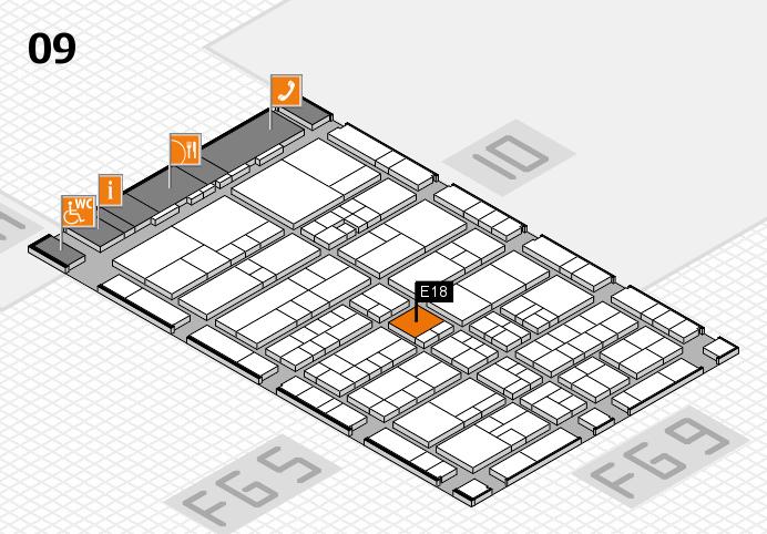 interpack 2017 Hallenplan (Halle 9): Stand E18
