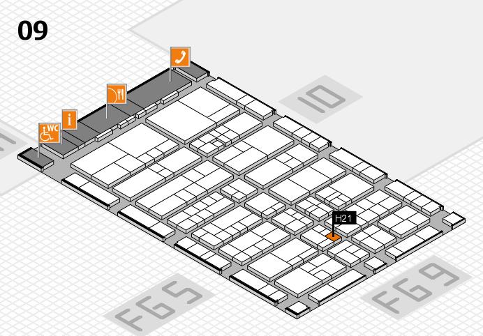 interpack 2017 Hallenplan (Halle 9): Stand H21