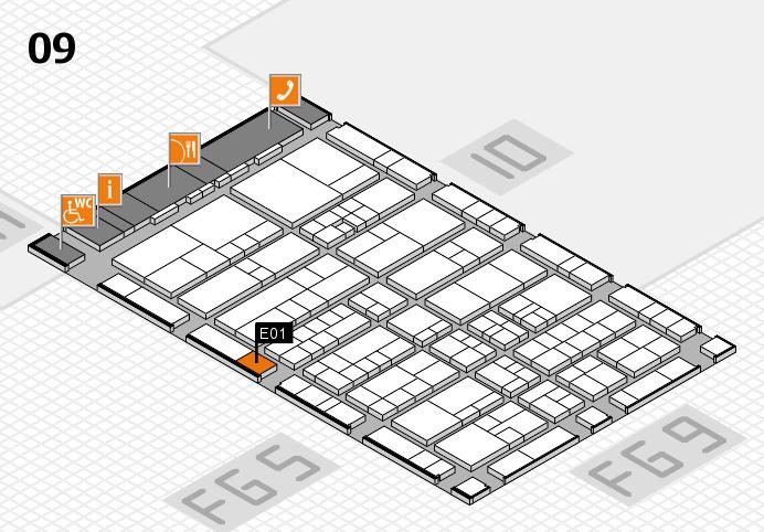 interpack 2017 Hallenplan (Halle 9): Stand E01