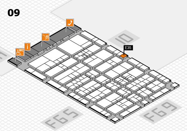 interpack 2017 Hallenplan (Halle 9): Stand E35