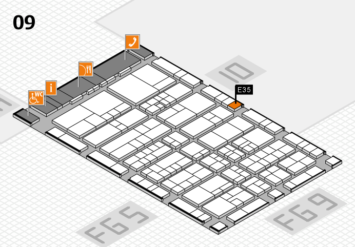 interpack 2017 hall map (Hall 9): stand E35
