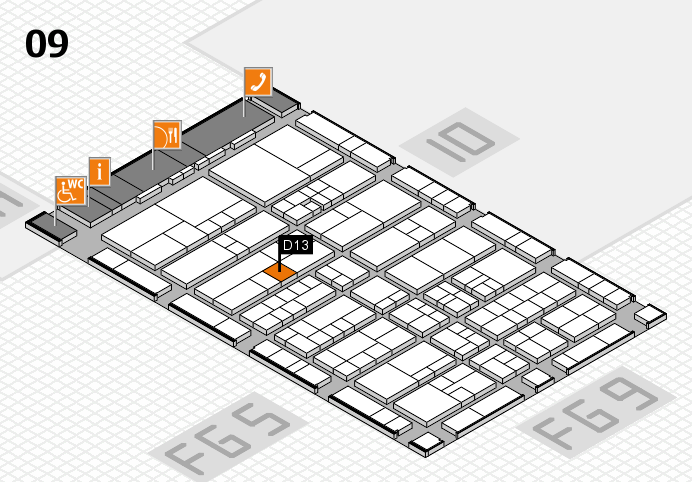 interpack 2017 hall map (Hall 9): stand D13
