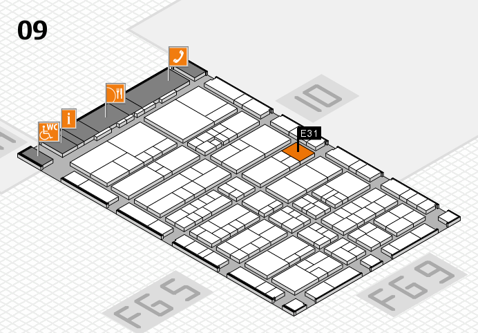 interpack 2017 hall map (Hall 9): stand D32.E31