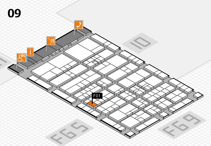 interpack 2017 Hallenplan (Halle 9): Stand F01