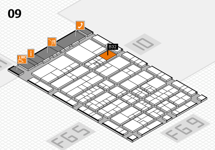 interpack 2017 hall map (Hall 9): stand B32