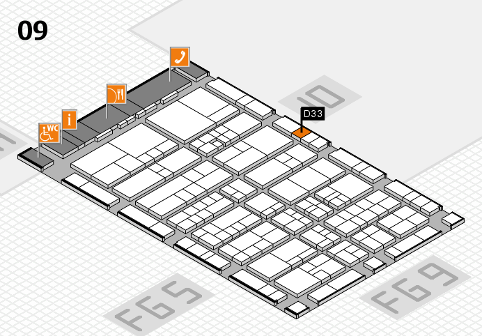 interpack 2017 hall map (Hall 9): stand D33