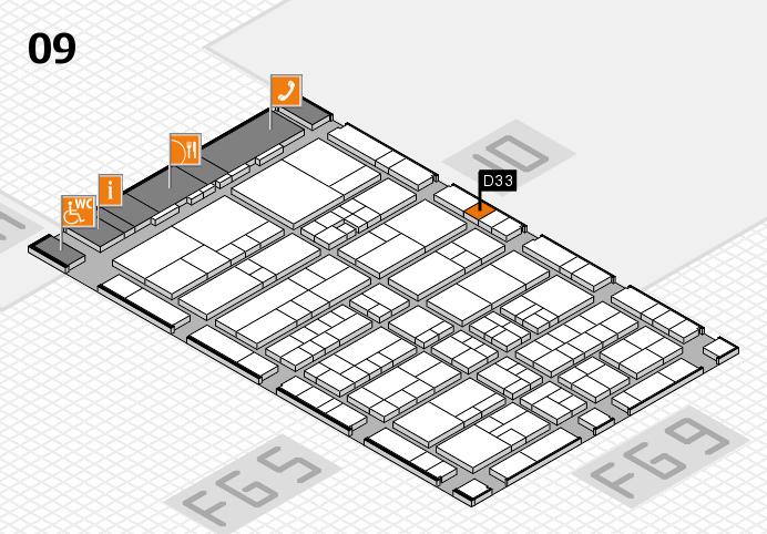 interpack 2017 Hallenplan (Halle 9): Stand D33