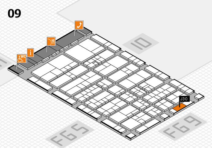 interpack 2017 Hallenplan (Halle 9): Stand J30