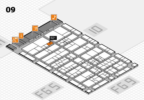 interpack 2017 Hallenplan (Halle 9): Stand B21