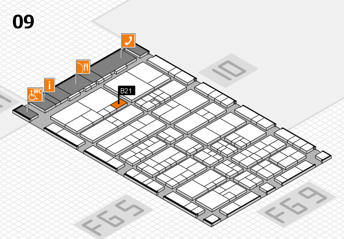 interpack 2017 hall map (Hall 9): stand B21