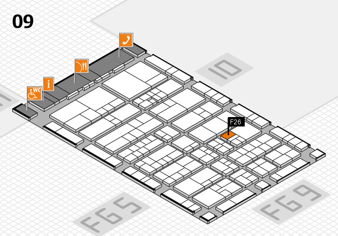 interpack 2017 hall map (Hall 9): stand F26