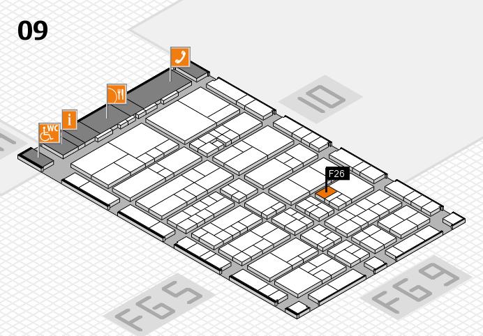 interpack 2017 Hallenplan (Halle 9): Stand F26