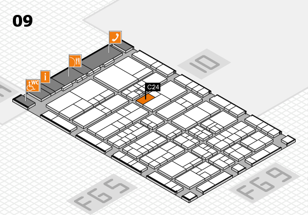 interpack 2017 hall map (Hall 9): stand C24
