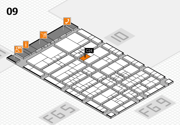 interpack 2017 Hallenplan (Halle 9): Stand C24