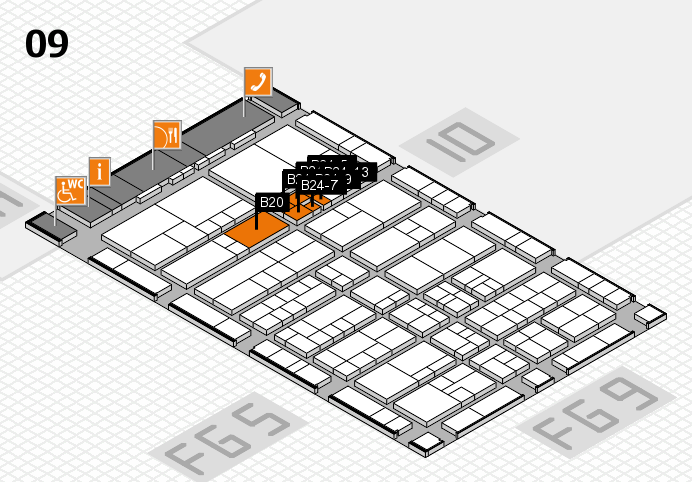 interpack 2017 hall map (Hall 9): stand B20, stand B24