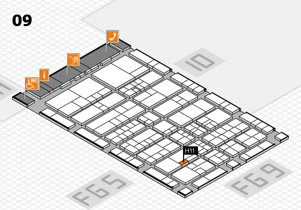 interpack 2017 hall map (Hall 9): stand H11