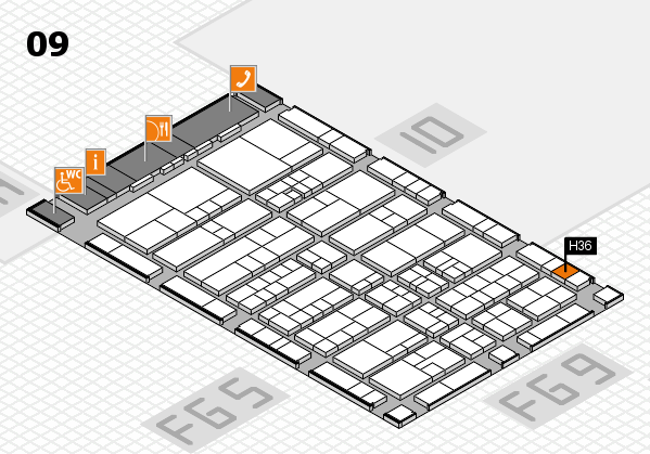 interpack 2017 hall map (Hall 9): stand H36