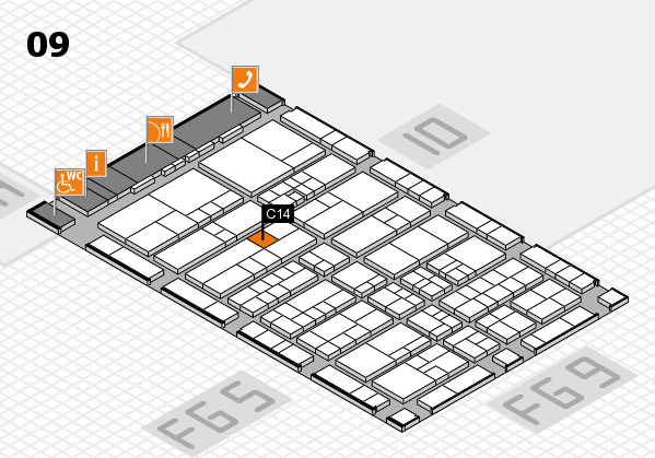 interpack 2017 hall map (Hall 9): stand C14