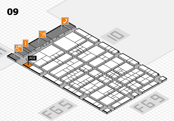 interpack 2017 hall map (Hall 9): stand A02
