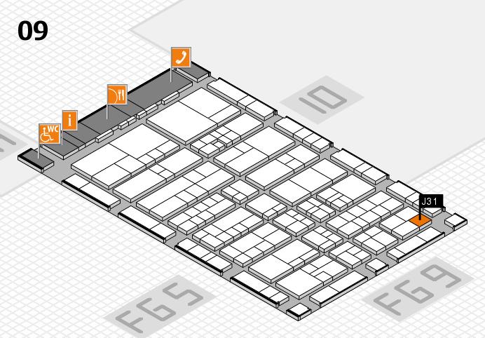 interpack 2017 Hallenplan (Halle 9): Stand J31