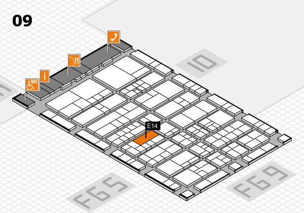 interpack 2017 Hallenplan (Halle 9): Stand E14